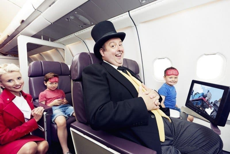 Children enjoy new Thomas & Friends movie as part of partnership with Virgin Atlantic to mark 70th anniversary