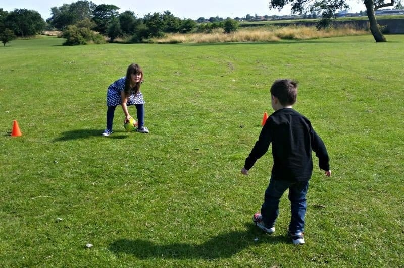 Family fun at Bure Park, Great Yarmouth - Roo and Tigger football