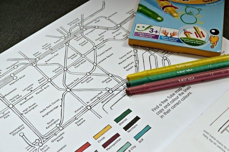 London Activity Book - Tube Map