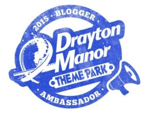 Drayton Manor Theme Park 2015 Blogger Ambassador Badge