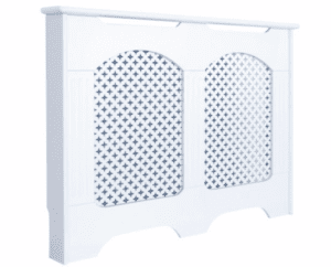 Medium White Cambridge Radiator Cover
