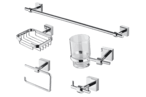 Trezzini 5 piece bathroom accessory set from Bathrooms.com