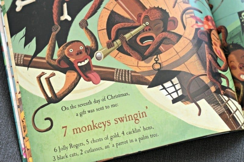 A Pirate's Twelve Days of Christmas - 7 monkeys swingin'