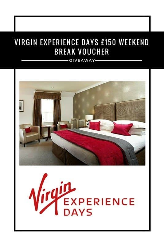 Virgin Experience Days £150 weekend break voucher #Giveaway