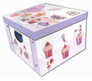 Daisy Patch Cupcake Collapsible Storage Box