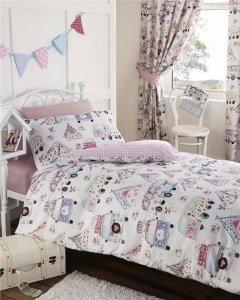 Homemaker Bedding - girls festival camper van bedding and curtains set
