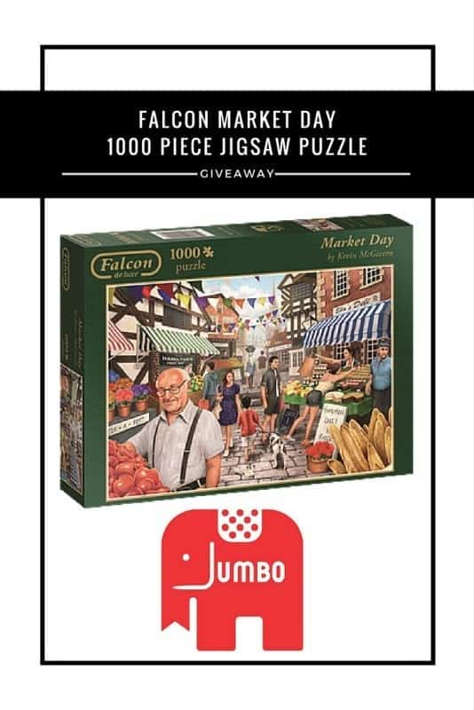 Falcon Market Day 1000 piece jigsaw puzzle #Giveaway