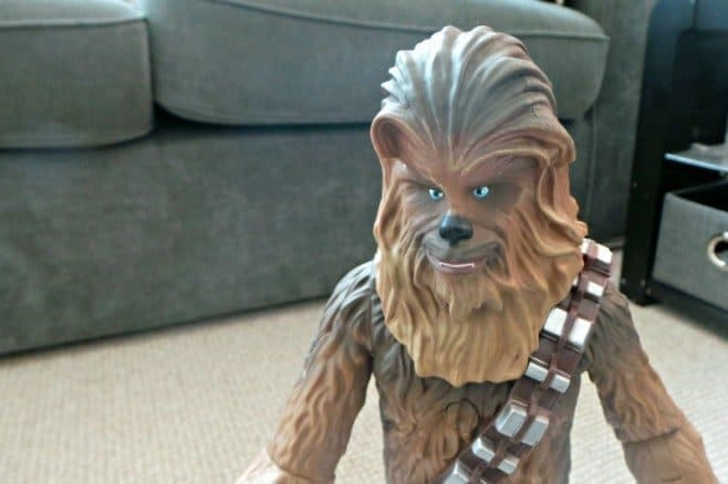 Star Wars The Force Awakens Chewbacca Talking Action Figure - close up