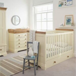 Country Cottage Natural Oak and Painted Nursery Furniture