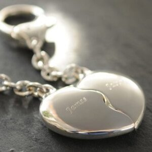 Engraved Joining Hearts Keyring