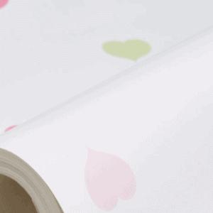 Green & Pink Hearts Wallpaper