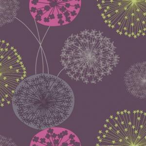 Lucienne Purple Floral Wallpaper