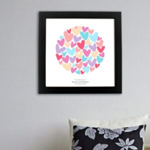 Personalised Circle of Love Print