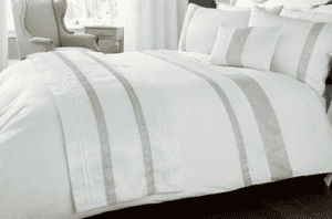 WHITE BED ACCESSORIES WITH EMBELLISHED SILVER DIAMANTE