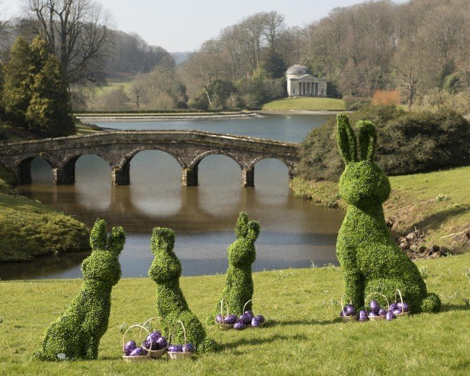 Conservation charity, National Trust, unveils a series of show-stopping topiary Easter bunnies to celebrate the ninth year of their partnership with Cadbury Easter Egg Hunts. Taking place at 271 National Trust locations over the Easter weekend (25 - 28 March), the special topiary bunnies will be on show at select National Trust places for visiting families to spot on their Egg Hunts. Helping to preserve special places for generations to come, the National Trust anticipates over 3 million visitors over the course of the weekend, and has received an impressive 362,592 Cadbury chocolate bunnies in preparation.