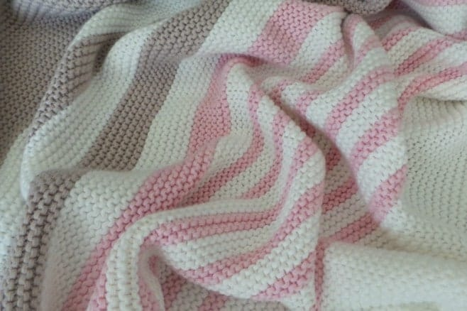 Little Chicke Pink Striped Baby Blanket