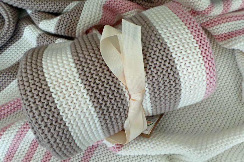 Little Chickie | Striped Baby Blanket