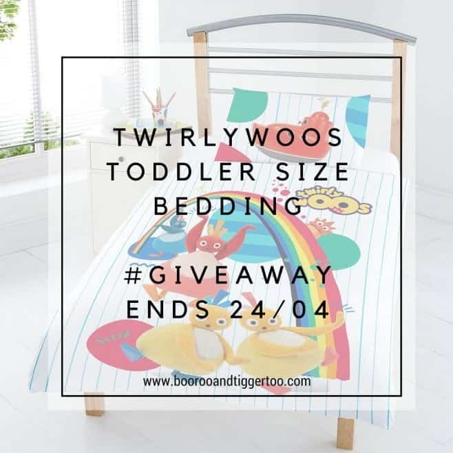 April 4 - Twirlywoos Toddler Size Bedding - instagram