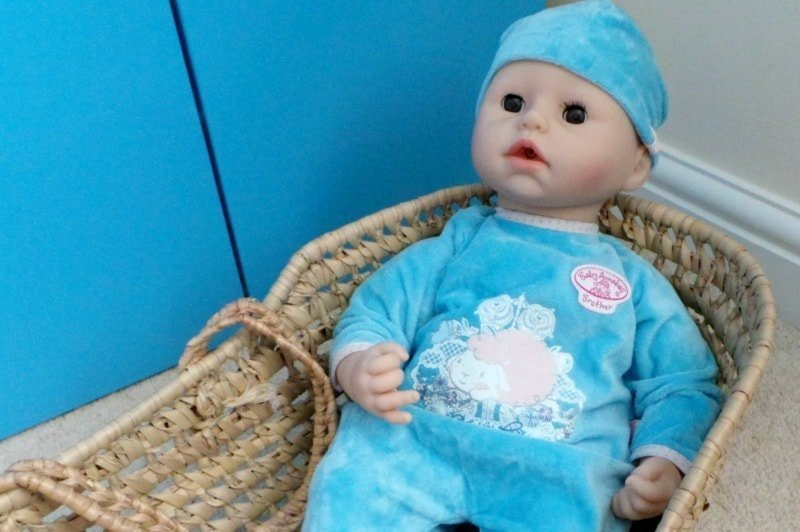 Baby Annabell Brother doll - Sitting in basket