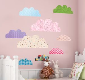 Various Cloud Textures Kids Stickers