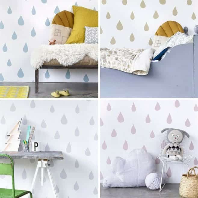 Hibou Home Raindrops Wallpaper {Grid}