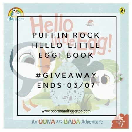 June 13 - Puffin Rock Hello Little Egg! book - instagram