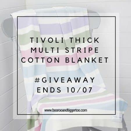 June 24 - Tivoli Thick Multi Stripe Cotton Blanket - instagram