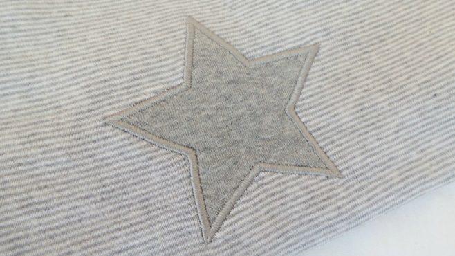 Sense Organics Peter Pan Grey Stripe Pyjamas - Star Motif