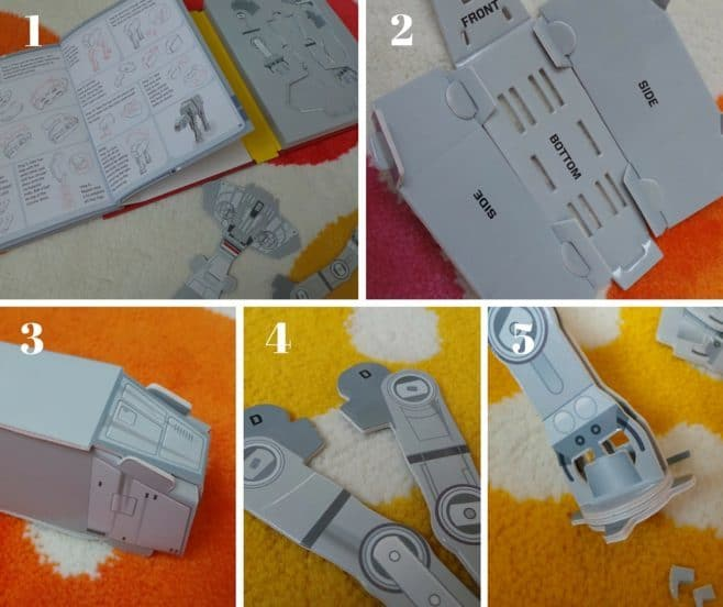 Star Wars Battle Stations Activity Book and Model - Steps 1-5