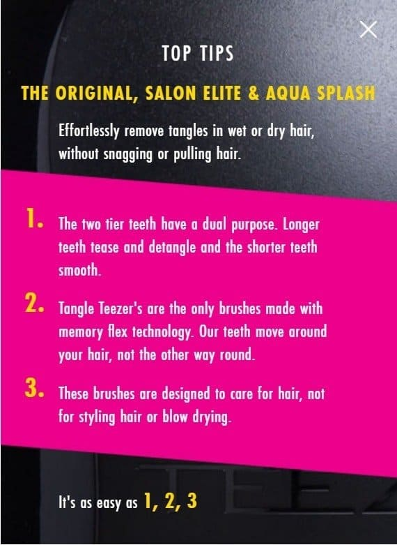 Tangle Teezer - Top Tips