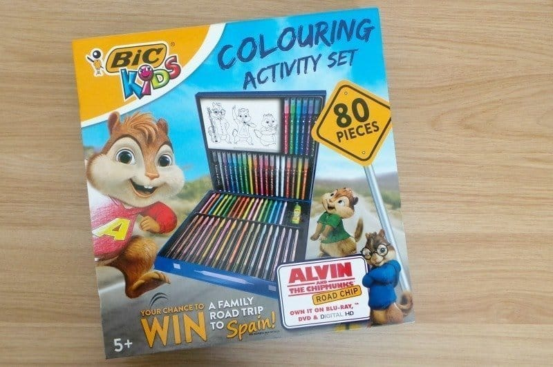 BiC Kids Alvin & the Chipmunks Colouring Activity Set