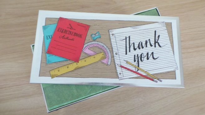 Biscuiteers thanks teacher biscuit tin