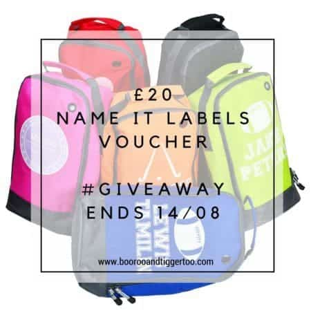 July 29 - £20 Name It Labels Voucher - instagram