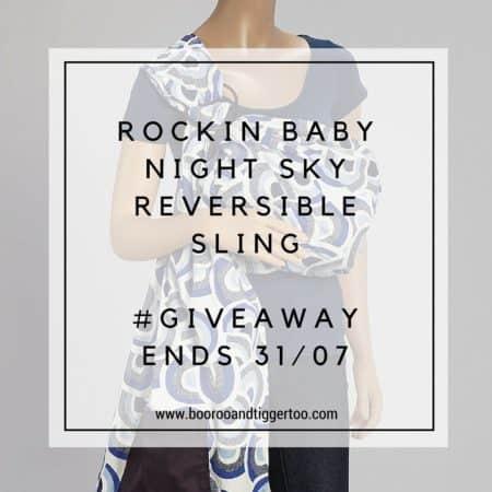 July 8 - Rockin' Baby Night Sky Reversible Sling - instagram