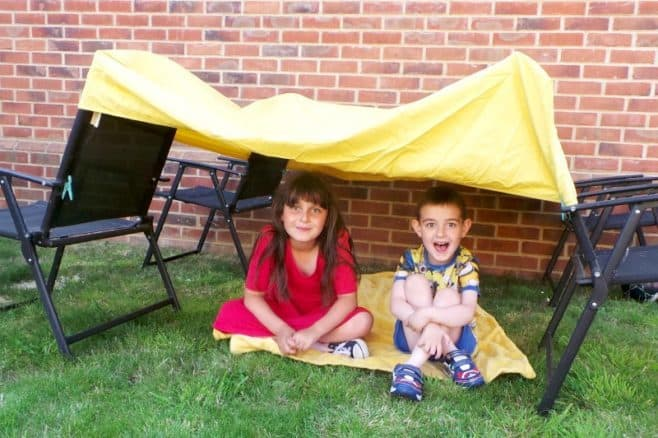 Let the summer holidays begin - Roo and Tigger Den Building