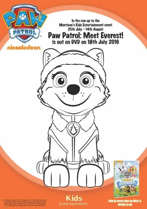 Paw Patrol Meet Everest - Colouring Sheet