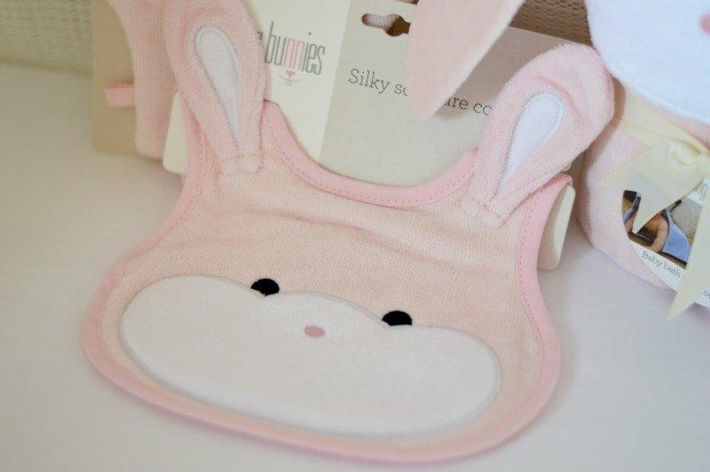 Bathing Bunnies Baby Bib