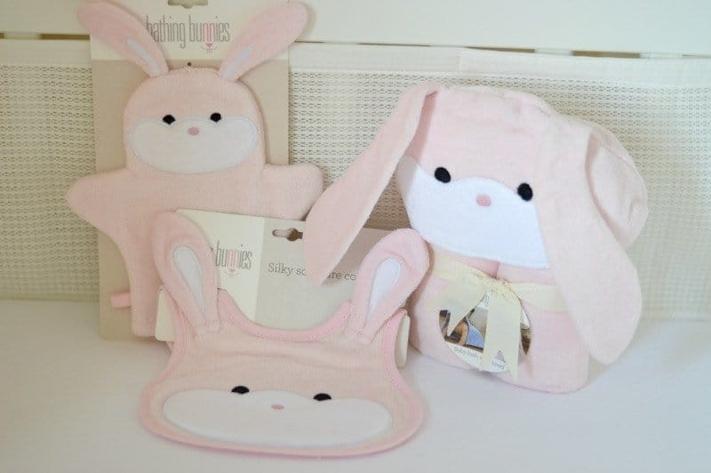 Bathing Bunnies Baby Towel Gift Set
