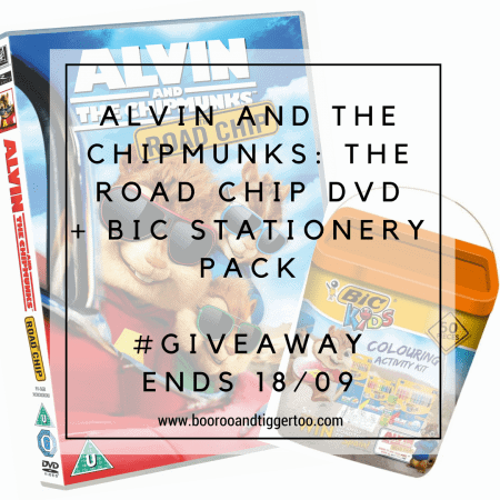 September 2 - ALVIN AND THE CHIPMUNKS- THE ROAD CHIP DVD + BIC STATIONERY PACK - instagram