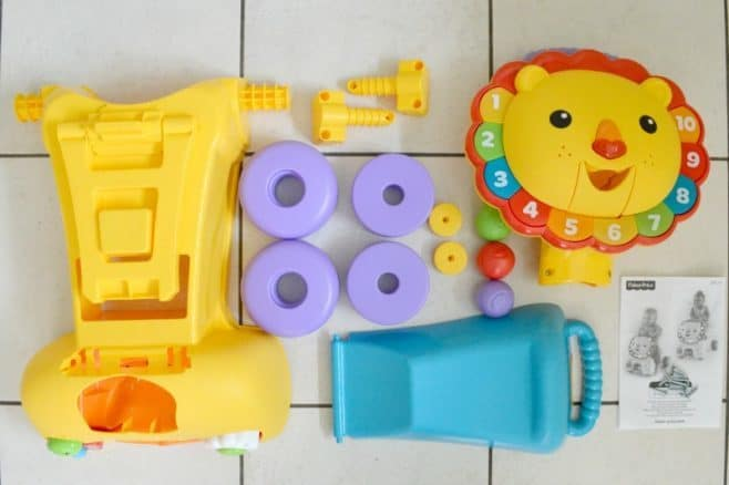 Fisher-Price 3-in-1 Sit, Stride & Ride Lion - Contents