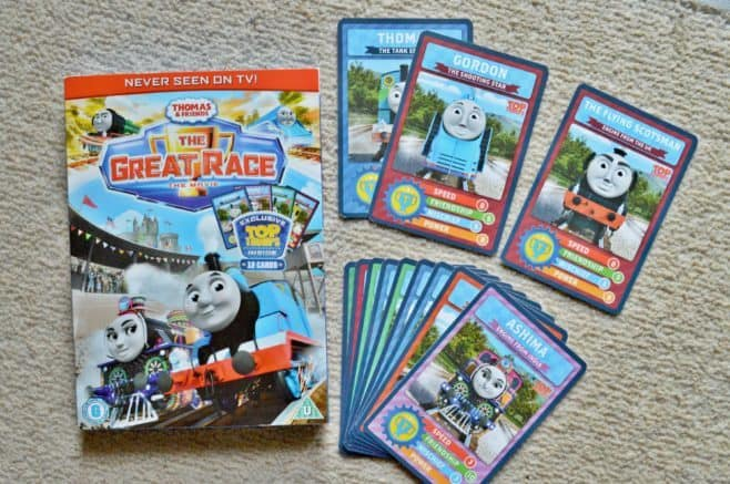 Thomas & Friends: The Great Race DVD - Top Trump cards