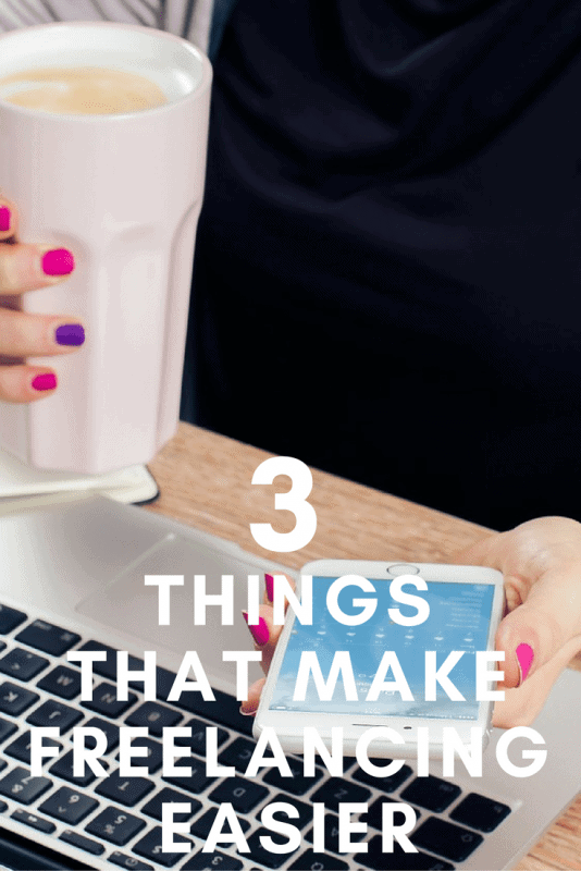 Three Things that Make Freelancing Easier - pinterest