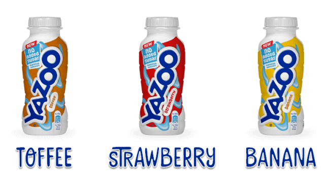 Yazoo No Added Sugar flavours