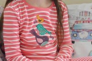Rockin' Baby Bird Appliqué Pyjamas