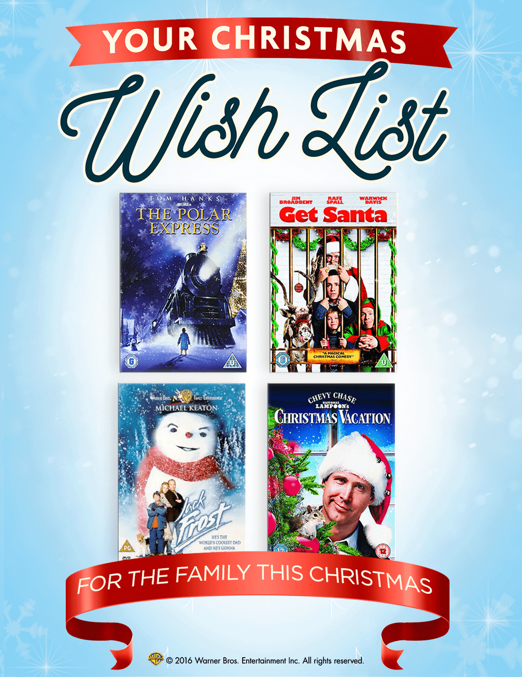 Christmas Films 'For The Family'