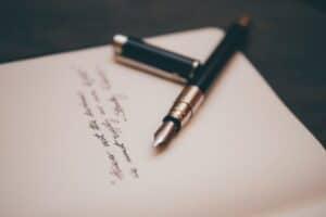 a handwritten letter