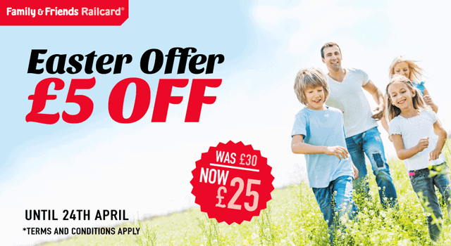 Egg-cellent Easter Sale: £5 off 16-25 and Family & Friends Railcards