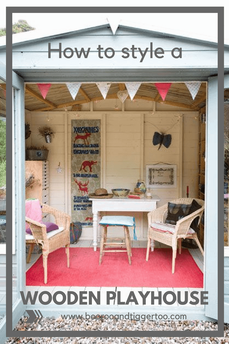How to style a wooden playhouse