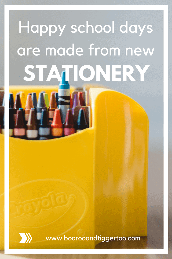 Happy school days are made from new stationery