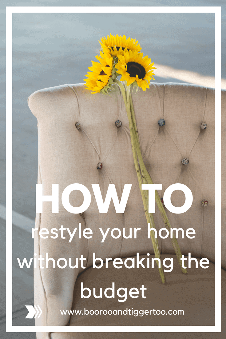 How to restyle your home without breaking the budget